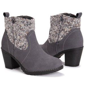 Muk Luks Women's Dark Gray Rhodie Boot Sz 9 NWT